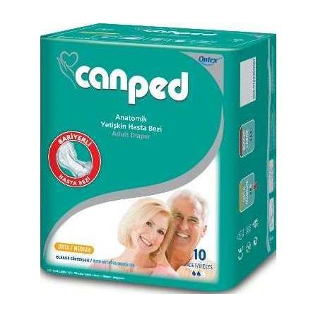 CANPED ANATOMİK HASTABEZİ MEDIUM 10'LU